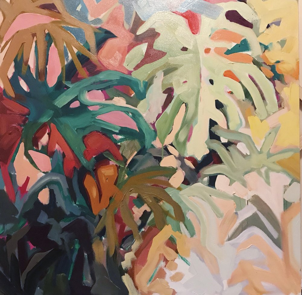 Palmetto Waltz. 40x40in. Available through Design Supply & Gallery 1930