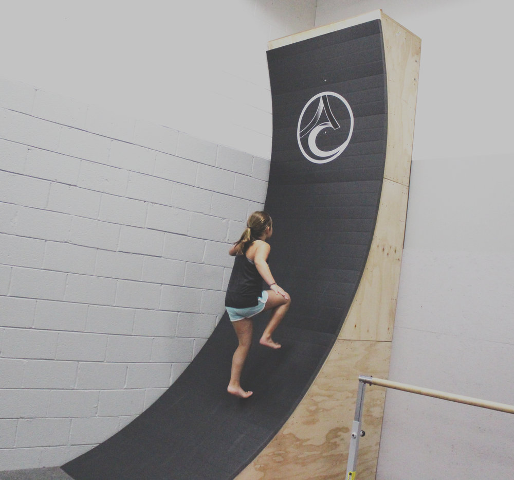 (Lower Gym) Our 12-foot warped wall