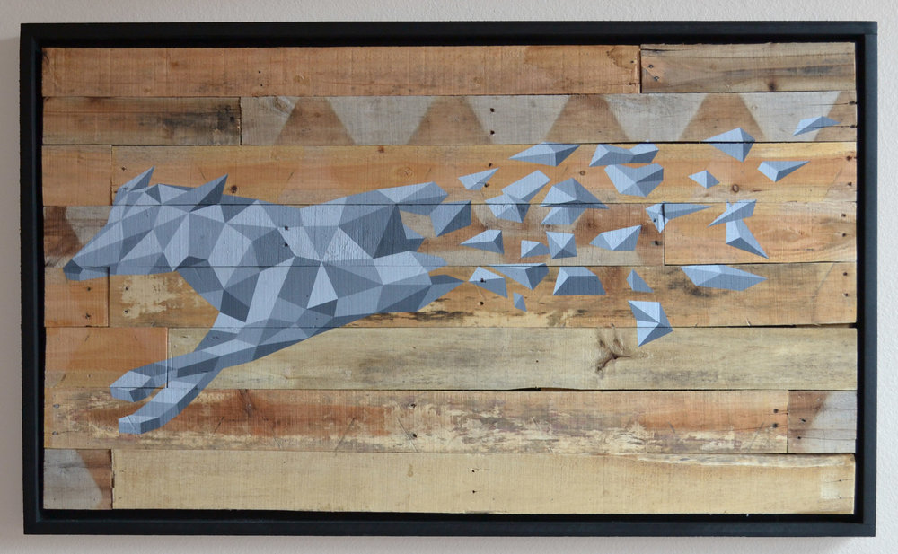 "Acrylic on Wood  29"" x 50""   2015"