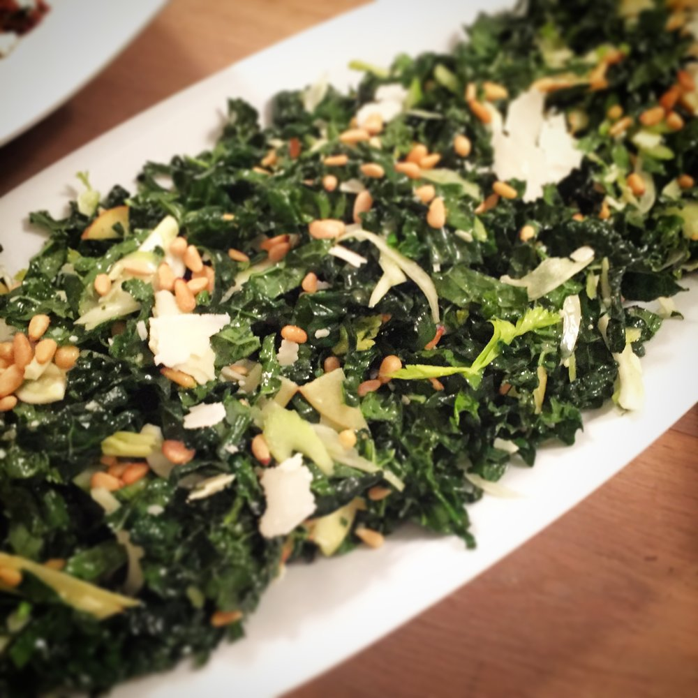 Kale, Fennel, Pecorino Salad