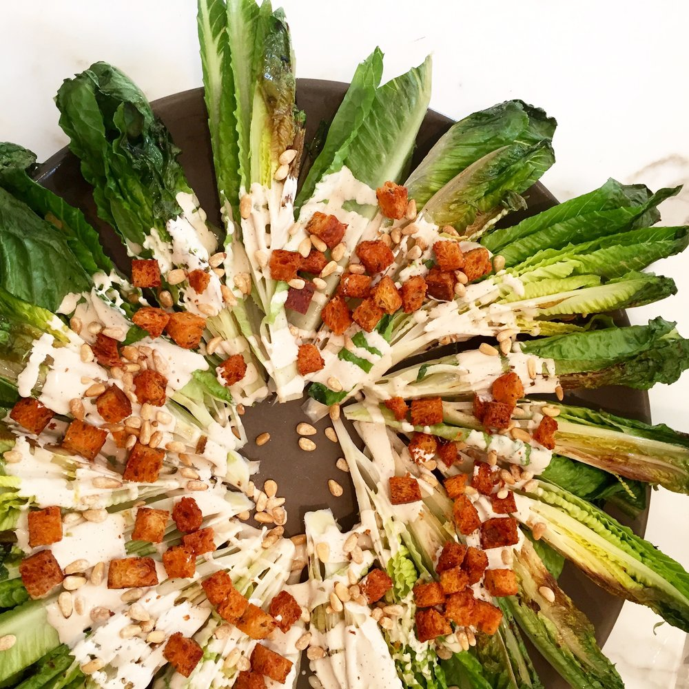 Grilled Romaine Caesar