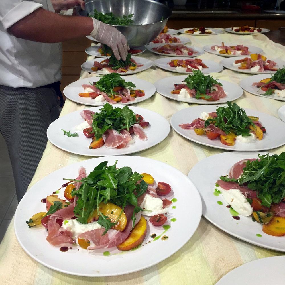 Prosciutto Peach Salad