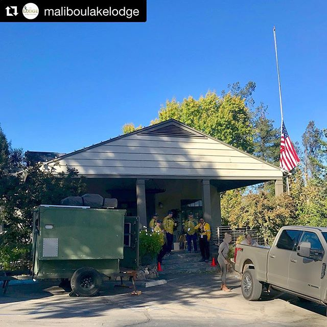 #Repost @maliboulakelodge ・・・ The Lodge is more than a pretty place to celebrate life's joyous occasions; she is a beacon of hope and a refuge for the community of Malibou Lake. Last night firefighters slept on our sofas and floors, and the community rallied around them and each other.  Today donations arrived in a steady stream; water, donuts, sandwiches, pet food, coffee, smiles, hugs, even laughter. Residents have begun returning, some to only a pile of ashes. To see The Lodge fulfill her genuine purpose as the heart of this community has made my heart full, and to see her stand tall and completely unscathed leaves me so incredibly grateful. -Cordelia