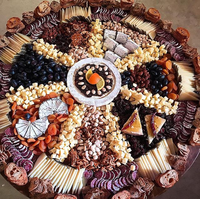 Cheese mandala for @eskina_space pop up holiday shop at @space15twenty 🙏 🧀  #chefcordelia #partyfood #cheesemandala #mandala #impermanence #eskinaspaceistheplace #lacatering #happyholidays2018 #cheflife #maliboulakelodge #hollywoodlife
