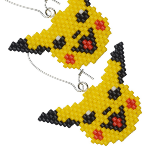 Pikachu beaded earrings tutorial.png