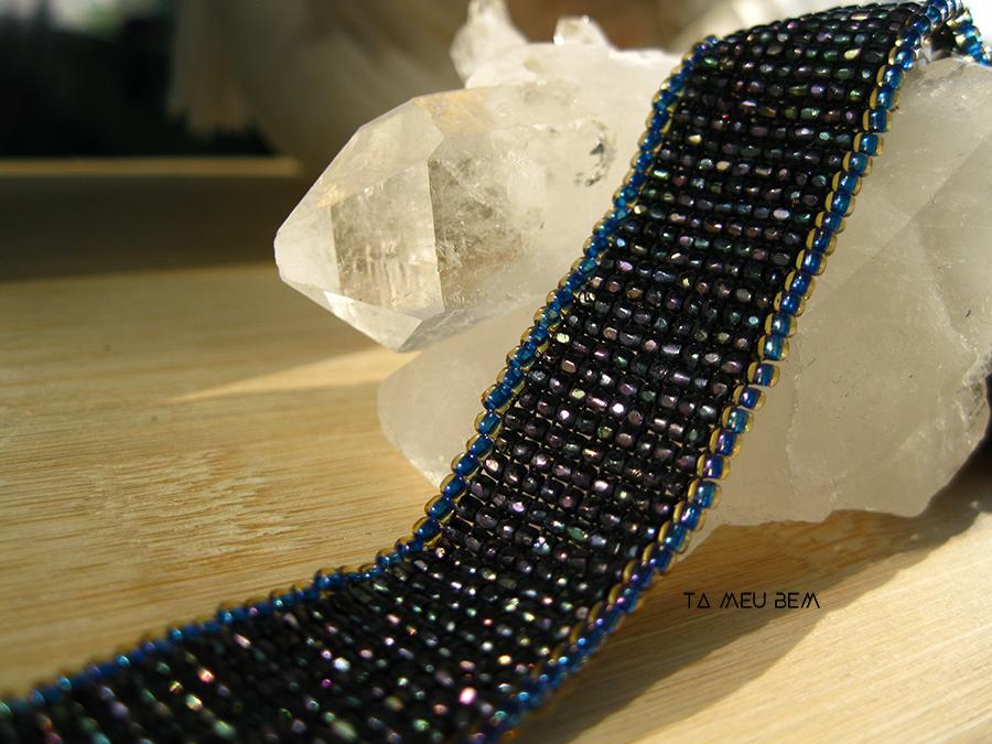 Cut seed bead beaded choker ta meu bem.JPG