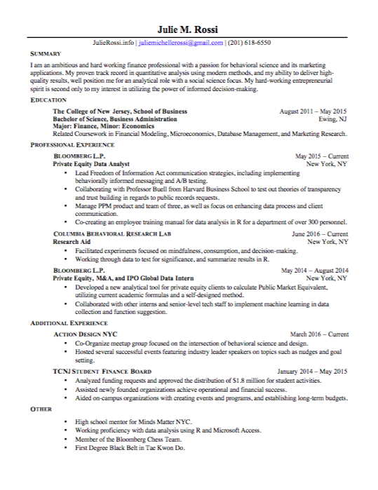 browse my resume - Resume For Behavioral Science