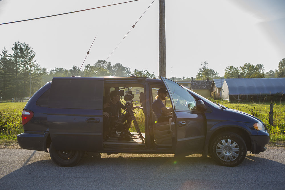 Ryan's van with the FS700 sandbagged down. We were also shooting a short 'save-the-date' video for our wedding.