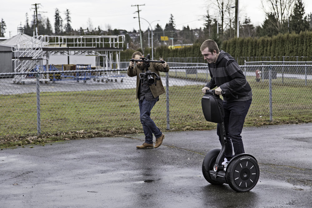 Just another quick photo of me trying out the Ronin. The segways were also quite fun to ride!