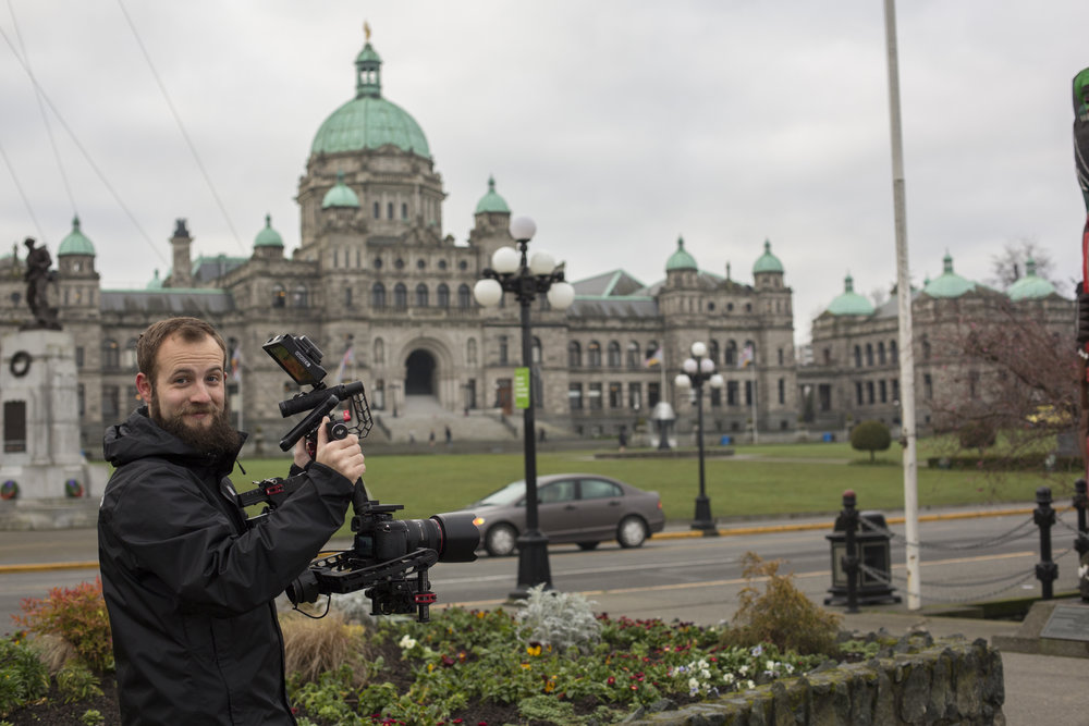 Me outside the parliament building with the ronin.