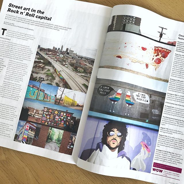 So much fun to find these murals featured in the @wowair in-flight magazine on the way to Iceland!