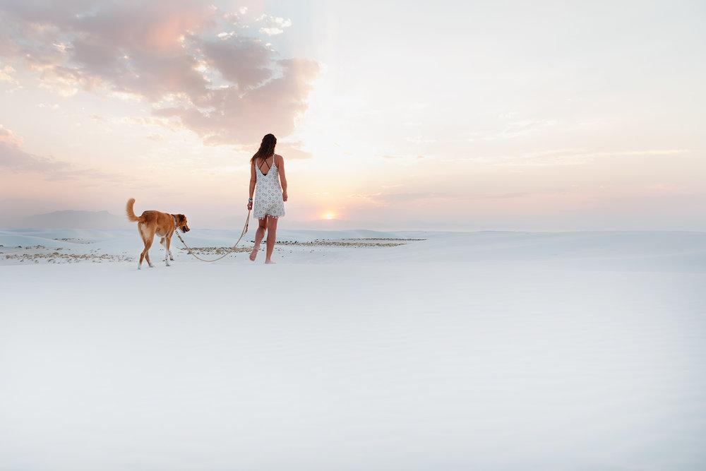Self-portrait | White Sands, NM