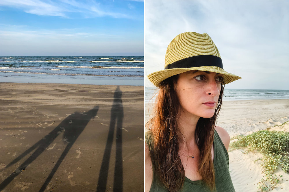 My shadow and me. And a very rare selfie the morning after. | Padre Island National Seashore, Texas | June 2018