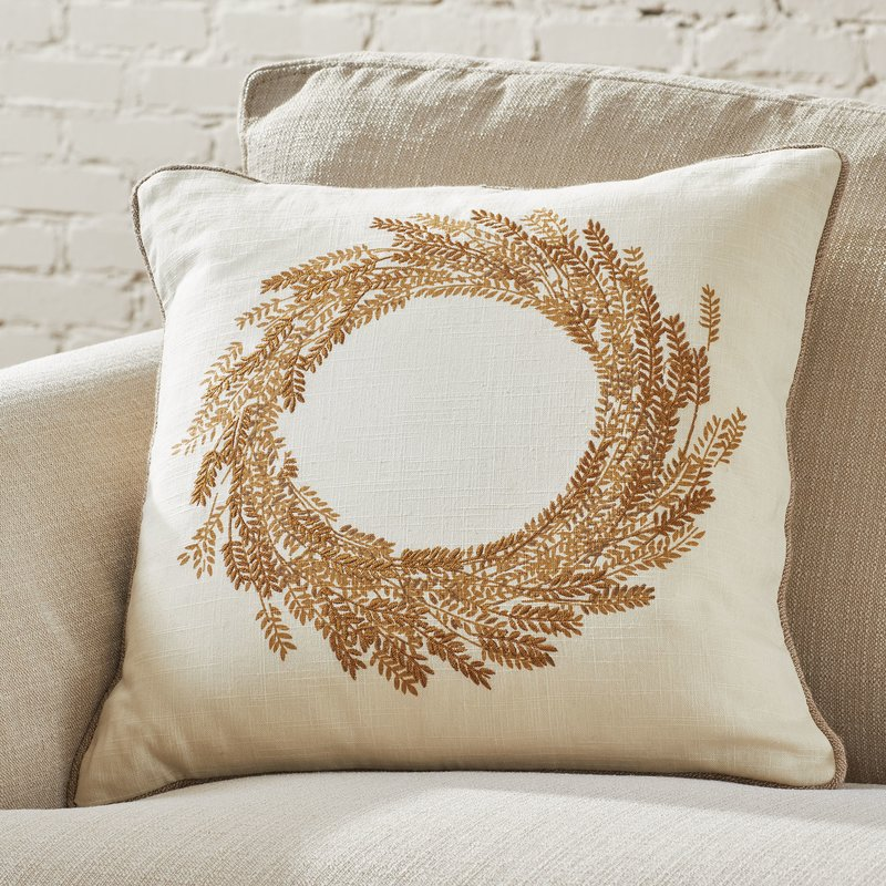 Wheat Wreath Embroidered Pillow Cover- Wayfair.jpg