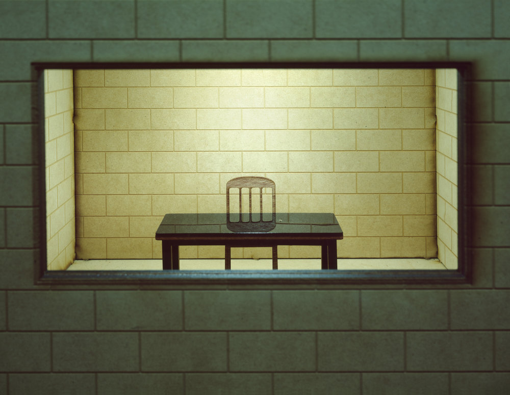 """Interrogation Room (miniature)"" , 2014 Archival pigment print, 16""x20""  Courtesy Yoav Friedlander & Carrie Able Gallery"