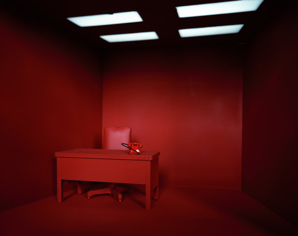 """The Red Room (miniature)"" , 2013 Archival pigment print, 16""x20""  Courtesy Yoav Friedlander & Carrie Able Gallery"