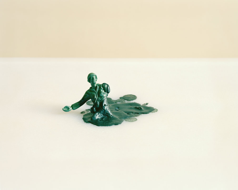 """The Melted Soldier (miniature)"" , 2013 Archival pigment print, 16""x20""  Courtesy Yoav Friedlander & Carrie Able Gallery"