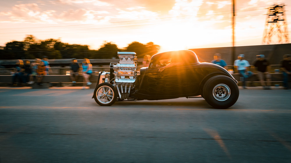 Car Show - Panning Sunset