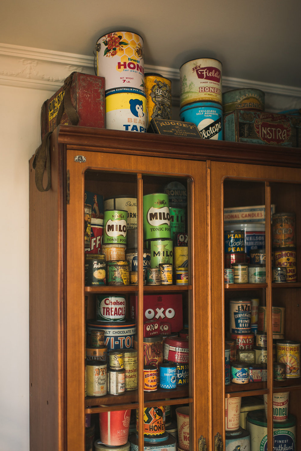 old tins & boxes