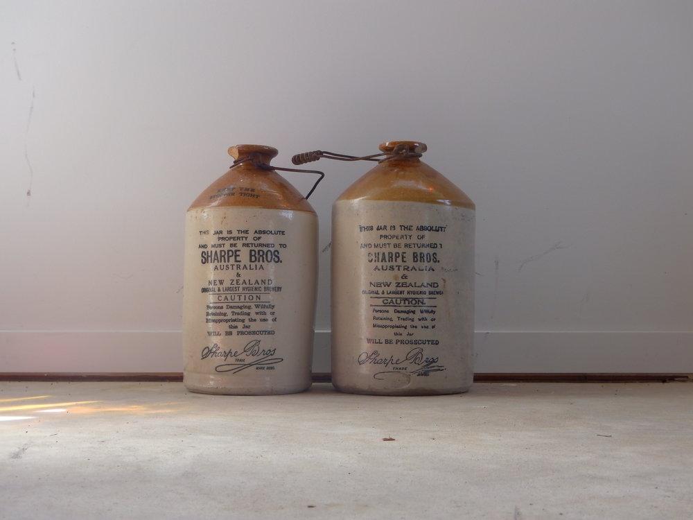 Antique Crock bottles
