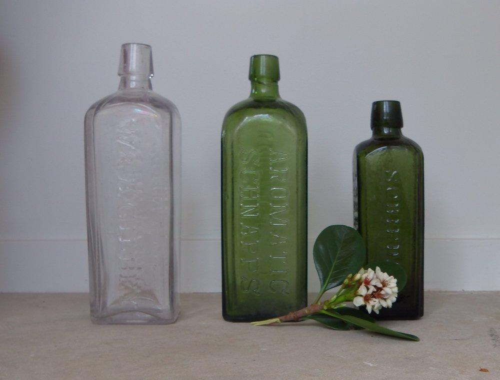 schnapps glass bottles