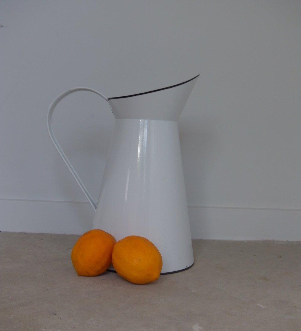 enamel jugs and teapots