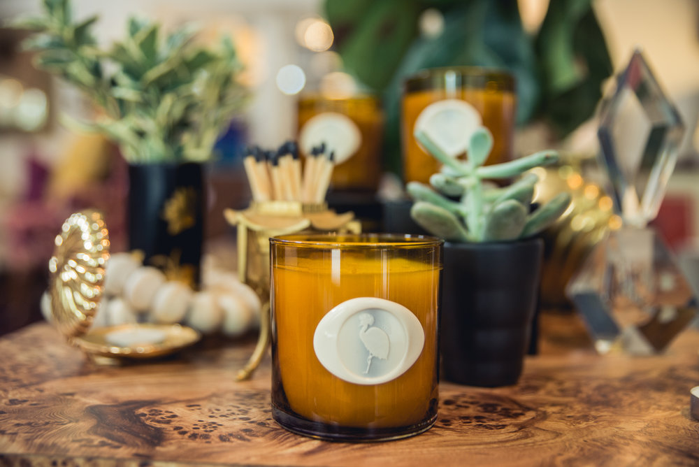Exclusive Studio Candles  - Candles scents created exclusively for DRIS studio by owner, Ariene Bethea.  Choose between Huntress and Good Juju - or both.  The perfect holiday gift for a hostess or design client.