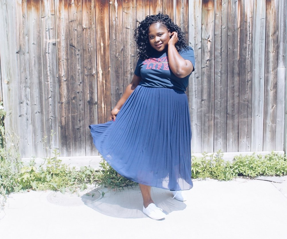 Bev's Eye View-The Pleated Skirt You Should Have