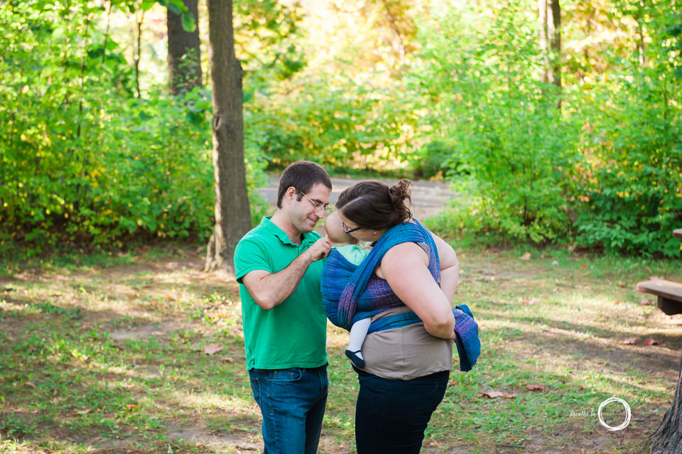 Babywearing Photography at Vincent Massey Park in Ottawa.