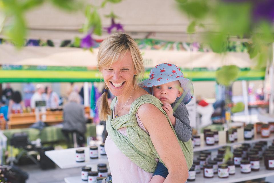 Babywearing Mini in Didymos Prima Wrap at Landsdowne Market