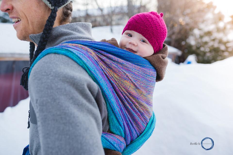 Tranquility Handwoven Wrap Ottawa Babywearing Dad.