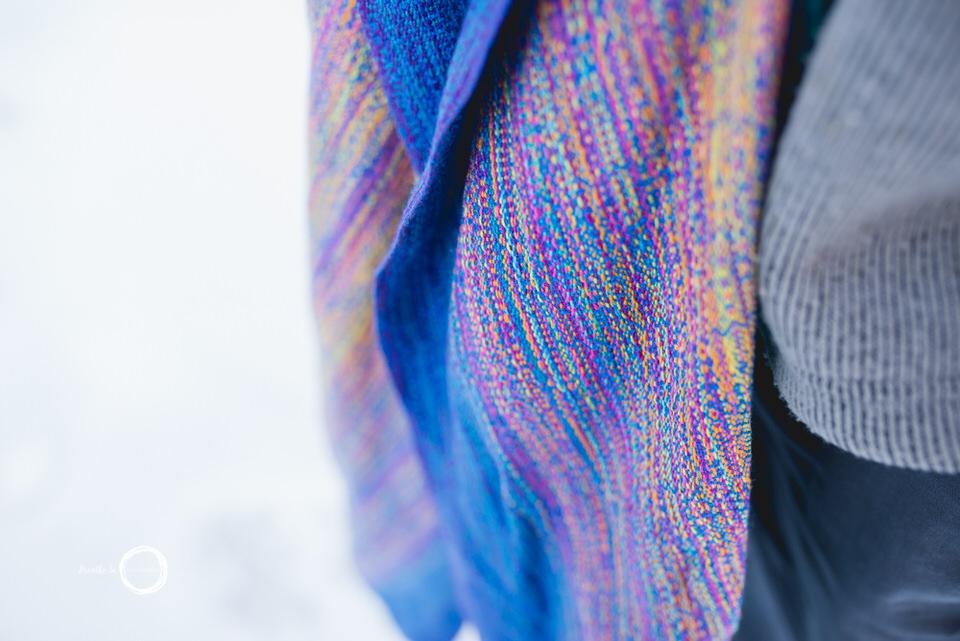 Handwoven details for Va Va Valoom Tranquility Ottawa Babywearing.