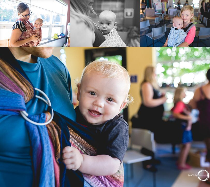 So much babywearing at Ottawa Community event celebrating breastfeeding world wide.