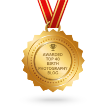 Breathe In Photography Named top forty Birth Photography Blogs.