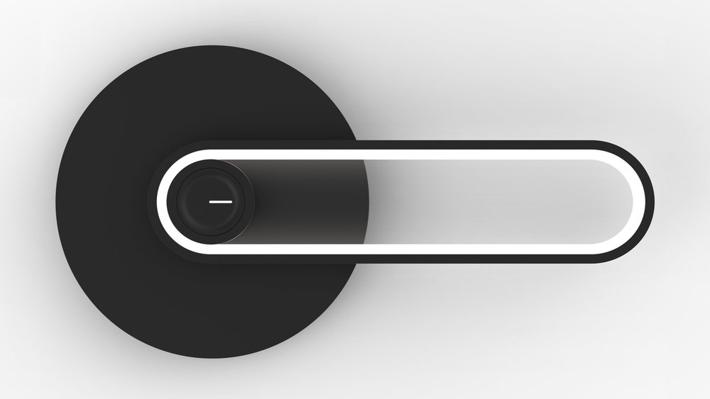 Lever - A door knob you can see.