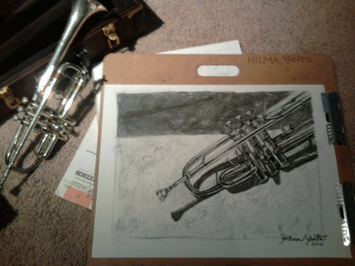 Trumpet for Keith in progress