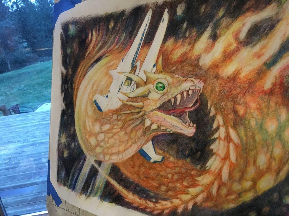 SNES Gradius III Fire Dragon Boss