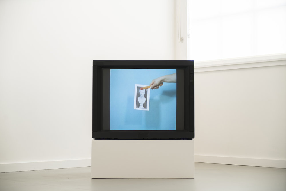 Sara Cwynar,  Still, Little Video , 2015. Sony PVM Monitor. Digital video, 2m26s. Silent