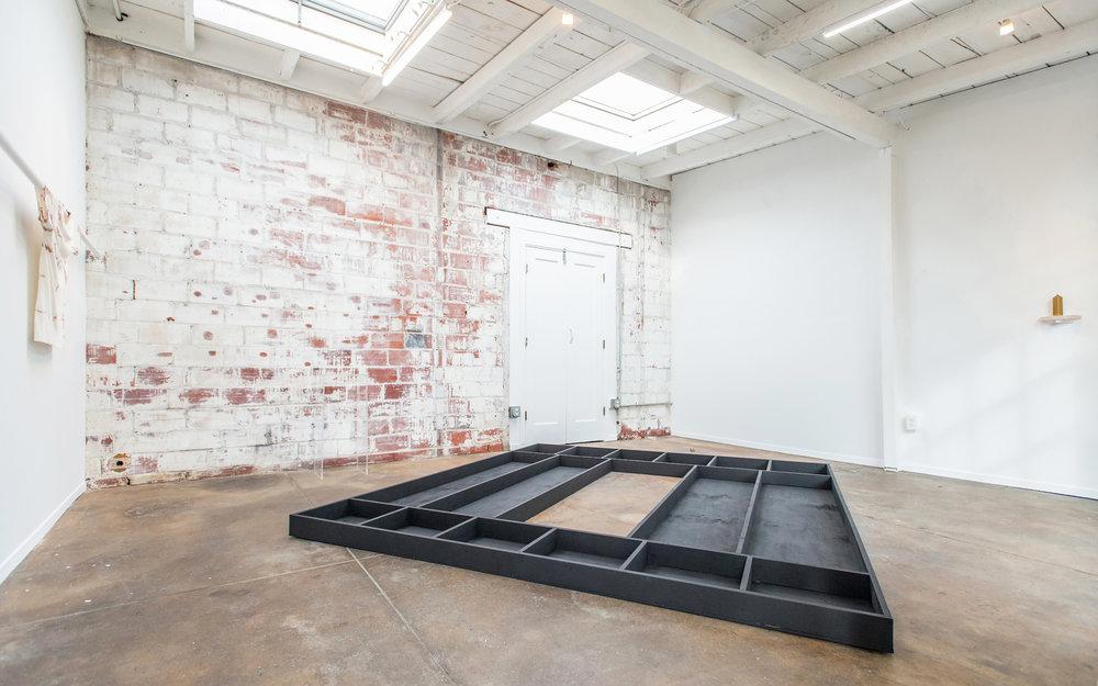 """Untitled (prop door), 2017 wood, gesso   8' x 9' x 5"""""""