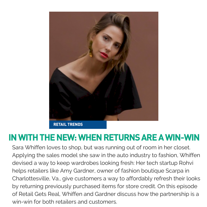 Sara Whiffen loves to shop, but was running out of room in her closet. Applying the sales model she saw in the auto industry to fashion, Whiffen devised a way to keep wardrobes looking fresh_ Her tech startup Rohvi h.png