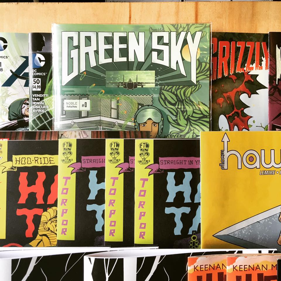 Green Sky  on the racks at Desert Island in Brooklyn, NY.
