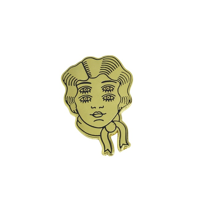 Four Eyes Pin  via Strike Gently Co.