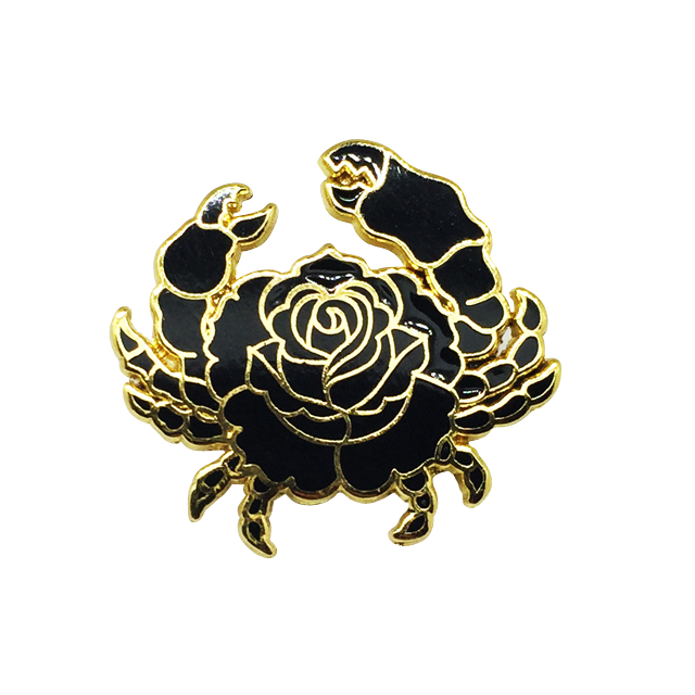 Rose Crab Pin via Strike Ge