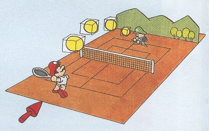 Mario Tennis concept drawing for Virtual Gameboy