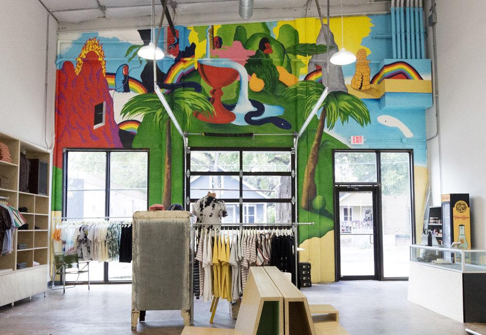 Jaime Zuverza - Mural for SHED Barber - Austin, TX