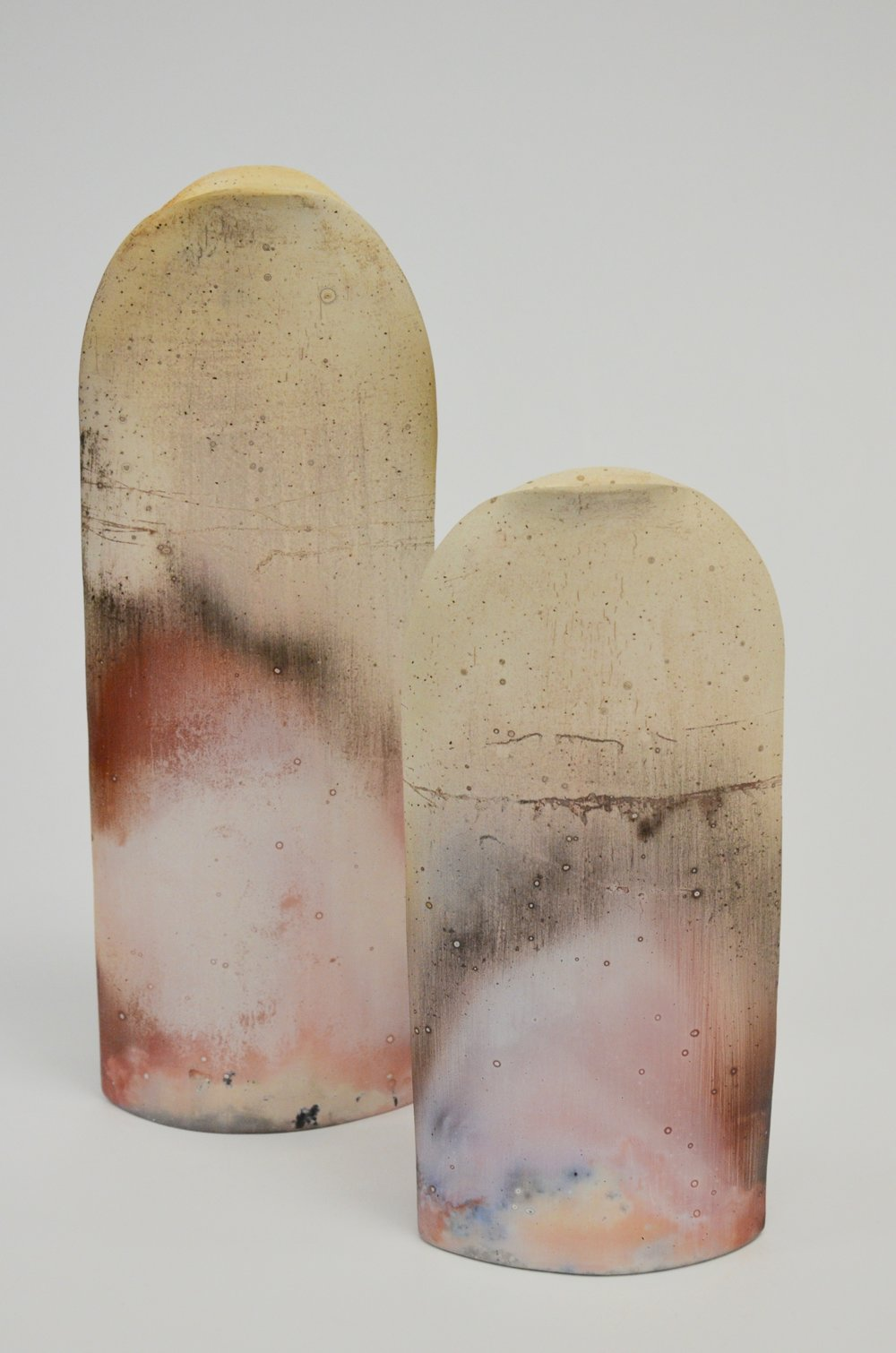 "Maggie Connolly, ""Aurora""; in the temperature unglazed; 25 x 9cm / 19 x 9cm 2018"