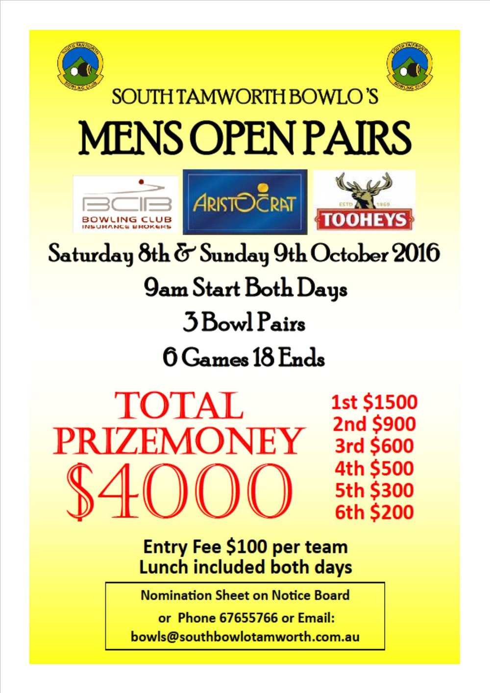 Open pairs October
