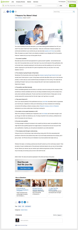 Glassdoor: Blog UI/UX — SHAWNCOOK:DESIGN