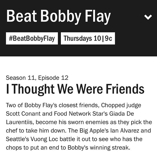 Don't forget to watch @foodnetwork's show Beat Bobby Flay Thursday night and see chef and owner Vuong Loc compete!