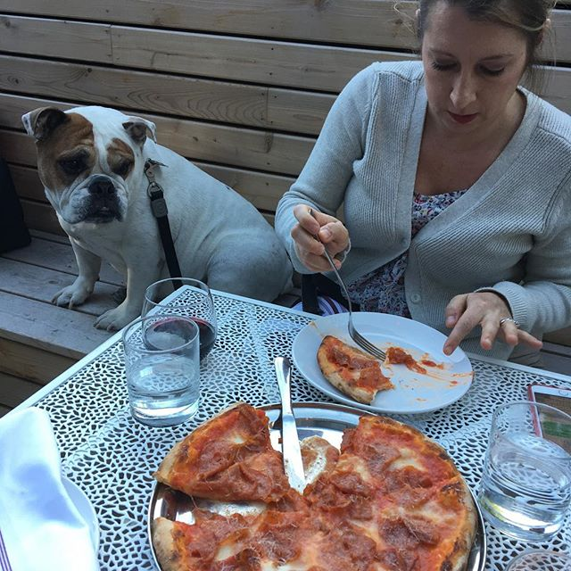 It's #nationaldogday. Enjoy a pizza on our patio with your pup!